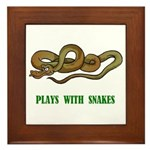 Plays With Snakes Framed Tile