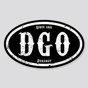 Durango Colorado Sticker (Oval)