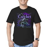 Crochet Purple Men's Fitted T-Shirt (dark)