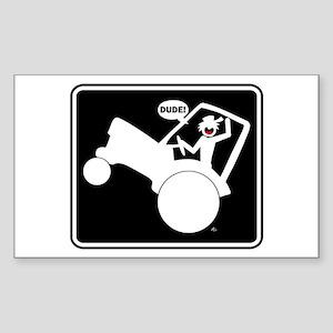 AGGIE WHEELIE Fun Stuff Sticker (Rectangle)