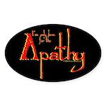 Apathy Oval Sticker