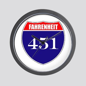 Fahrenheit Route 451 Wall Clock