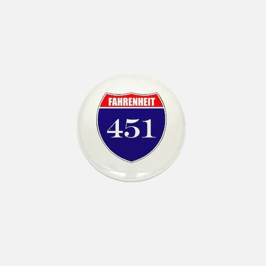 Fahrenheit Route 451 Mini Button