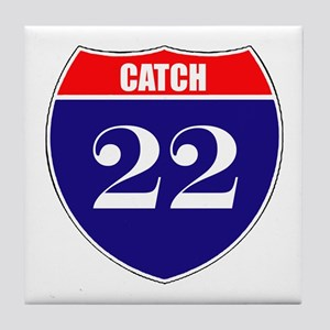 Catch 22 Route Tile Coaster