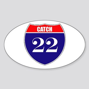Catch 22 Route Sticker (Oval)