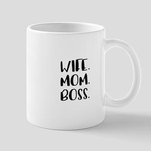 Wife.Mom.Boss. Mugs