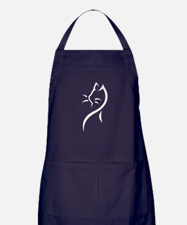 Tribal Cat Close Apron (dark)