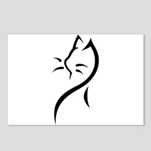 Tribal Cat Close Postcards (Package of 8)