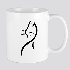 Tribal Cat Close Mug