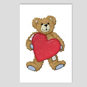 Teddy Bear Love Postcards (Package of 8)