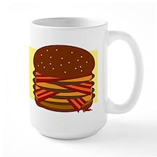 Bacon Quad Cheeseburger Large Mug
