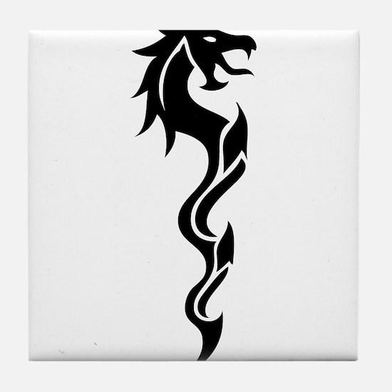 Tribal Dragon Dagger Tile Coaster