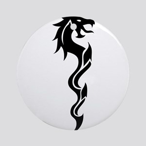 Tribal Dragon Dagger Ornament (Round)