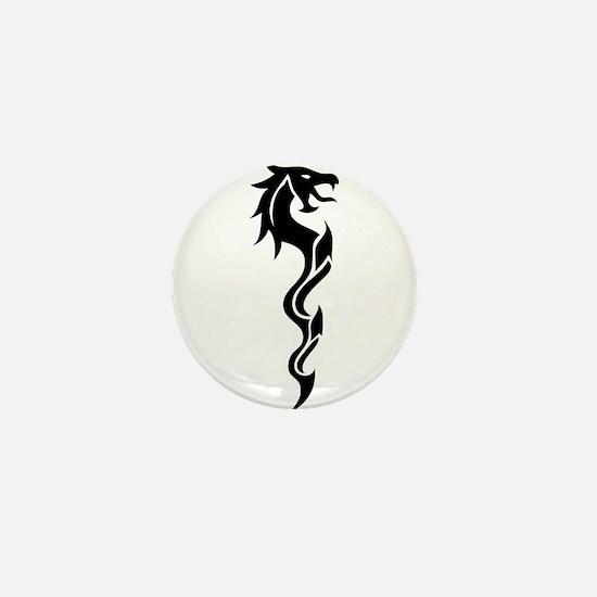 Tribal Dragon Dagger Mini Button