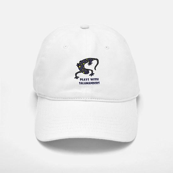 Plays With Salamanders Baseball Baseball Cap