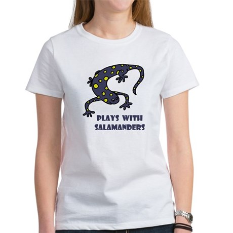Plays With Salamanders Women's T-Shirt