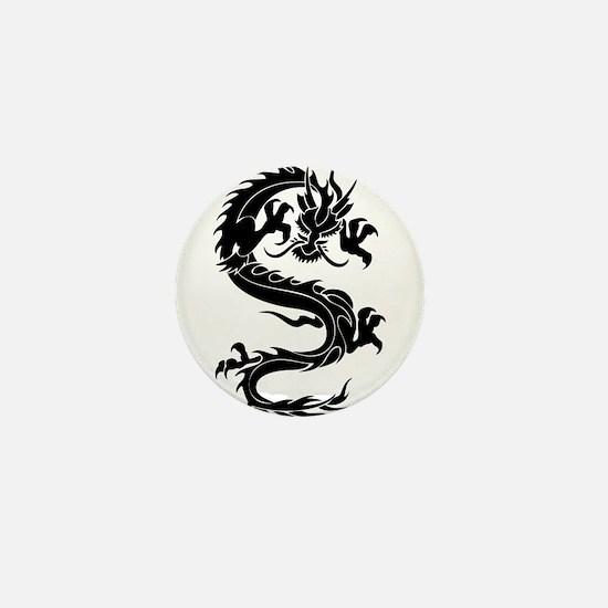 Tribal Dragon Old Mini Button