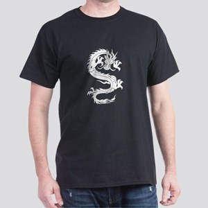 Tribal Dragon Old Dark T-Shirt