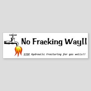 No Fracking Way White Sticker (Bumper)