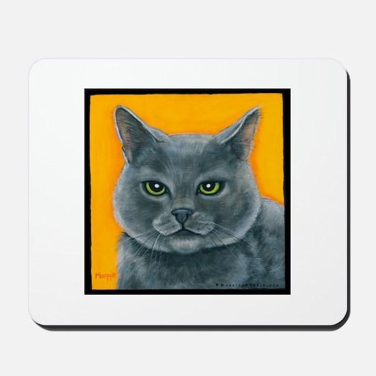 "Russian Blue Cat ""Bill the Pickle"" Mousepad"