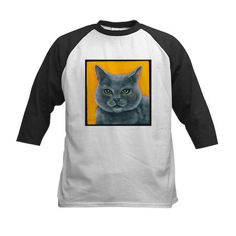 """Russian Blue Cat """"Bill the Pickle"""" Kids Baseball J"""