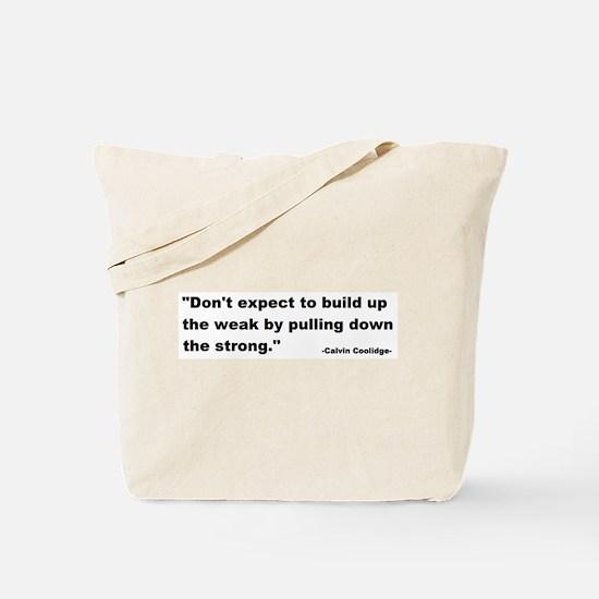 Calvin Coolidge Quote Tote Bag