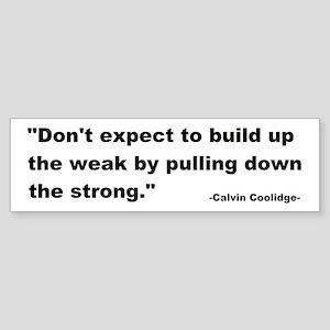 Calvin Coolidge Quote Sticker (Bumper)