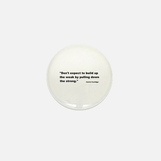 Calvin Coolidge Quote Mini Button