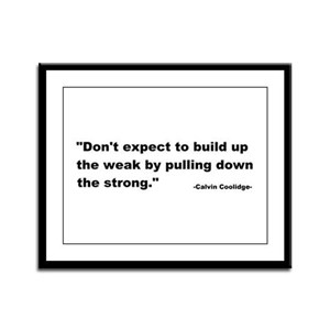 Calvin Coolidge Quote Framed Panel Print