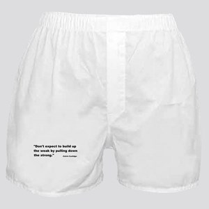 Calvin Coolidge Quote Boxer Shorts