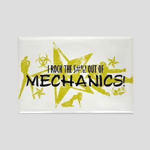I ROCK THE S#%! - MECHANICS Rectangle Magnet