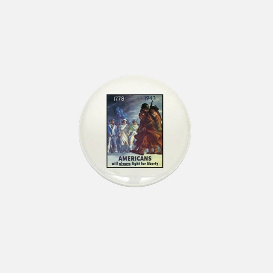 Fight for Liberty Poster Art Mini Button