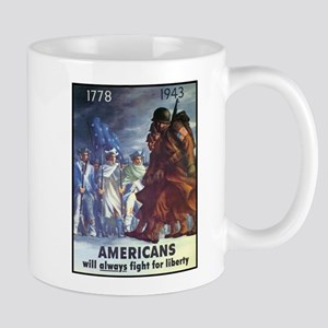 Fight for Liberty Poster Art Mug
