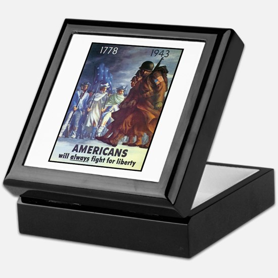 Fight for Liberty Poster Art Keepsake Box