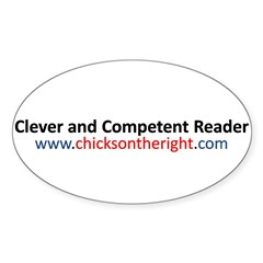 Clever and Competent Reader Sticker (Oval 50 pk)