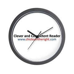 Clever and Competent Reader Wall Clock