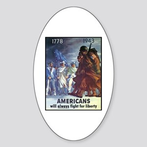 Fight for Liberty Poster Art Oval Sticker