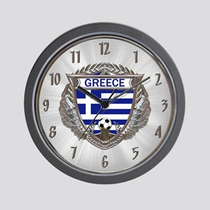 Greece Soccer Wall Clock