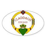 Claddagh Pipe Band Sticker (Oval) Sticker (Oval)