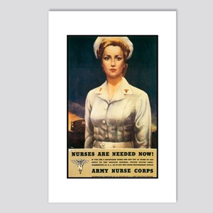 Nurses Needed Now Poster Art Postcards (Package of