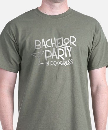 Bachelor Party in Progress Black T-Shirt