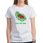 Plays With Frogs Women's T-Shirt