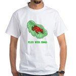 Plays With Frogs White T-Shirt