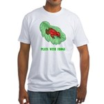 Plays With Frogs Fitted T-Shirt