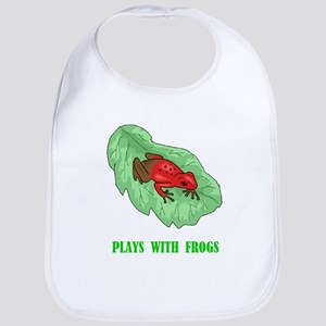 Plays With Frogs Bib