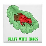 Plays With Frogs Tile Coaster