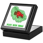 Plays With Frogs Keepsake Box