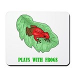 Plays With Frogs Mousepad
