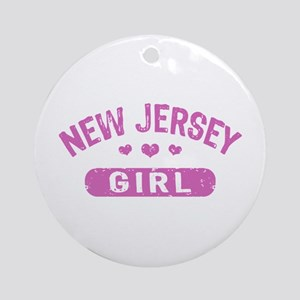 New Jersey Girl Ornament (Round)