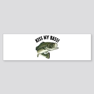 Kiss My Bass Bumper Sticker